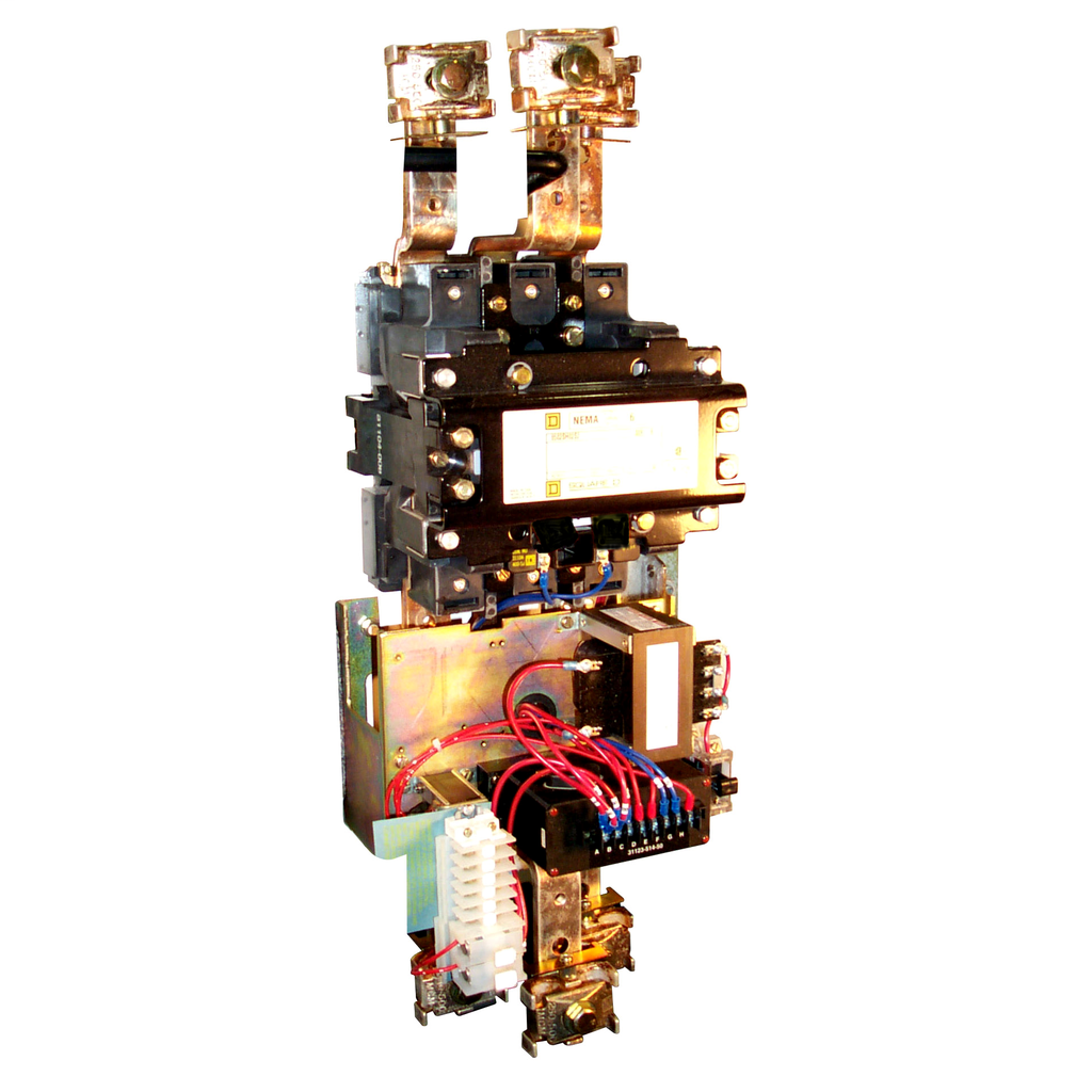 Mayer-NEMA Contactor, Type S, nonreversing, Size 6, 540A, 400 HP at 575 VAC, 3 phase, up to 100 kA, 3 pole, 120 VAC coil, open-1