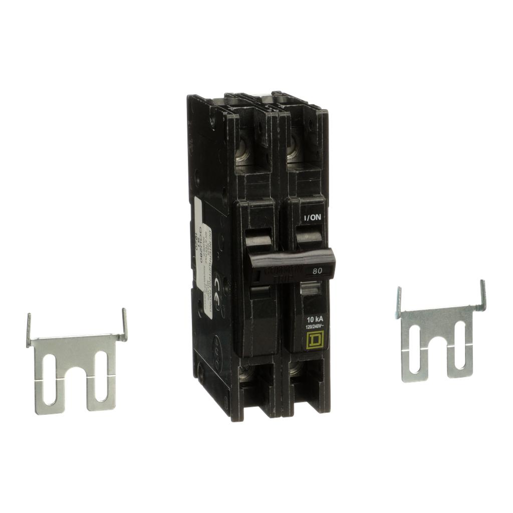 Mayer-Mini circuit breaker, QOU, 80A, 2 pole, 120/240 VAC, 10kA-1