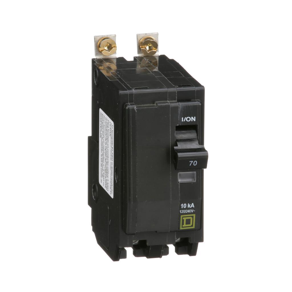 Mayer-Mini circuit breaker, QO, 70A, 2 pole, 120/240 VAC, 10 kA, bolt on mount-1