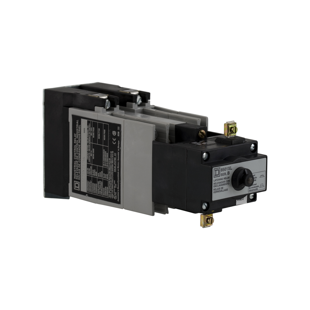 Mayer-NEMA Control Relay, Type X, latching, 10A resistive at 600 VAC, 8 normally open contacts, 110/120 VAC 50/60 Hz coil-1
