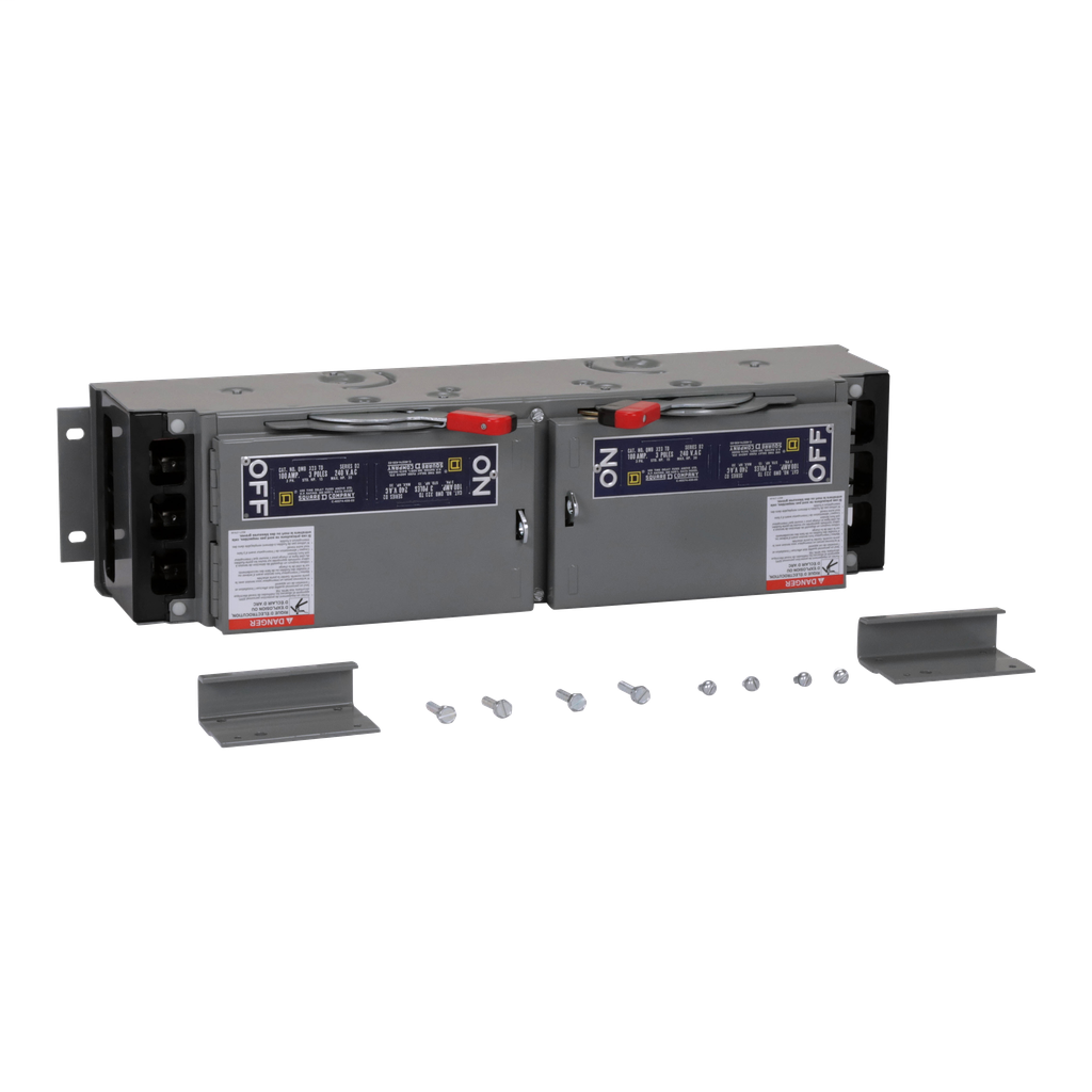 Mayer-Fusible Switch, QMB, 100A to 100A, 240 VAC, 3 pole, 15 hp, 4.5 in-1