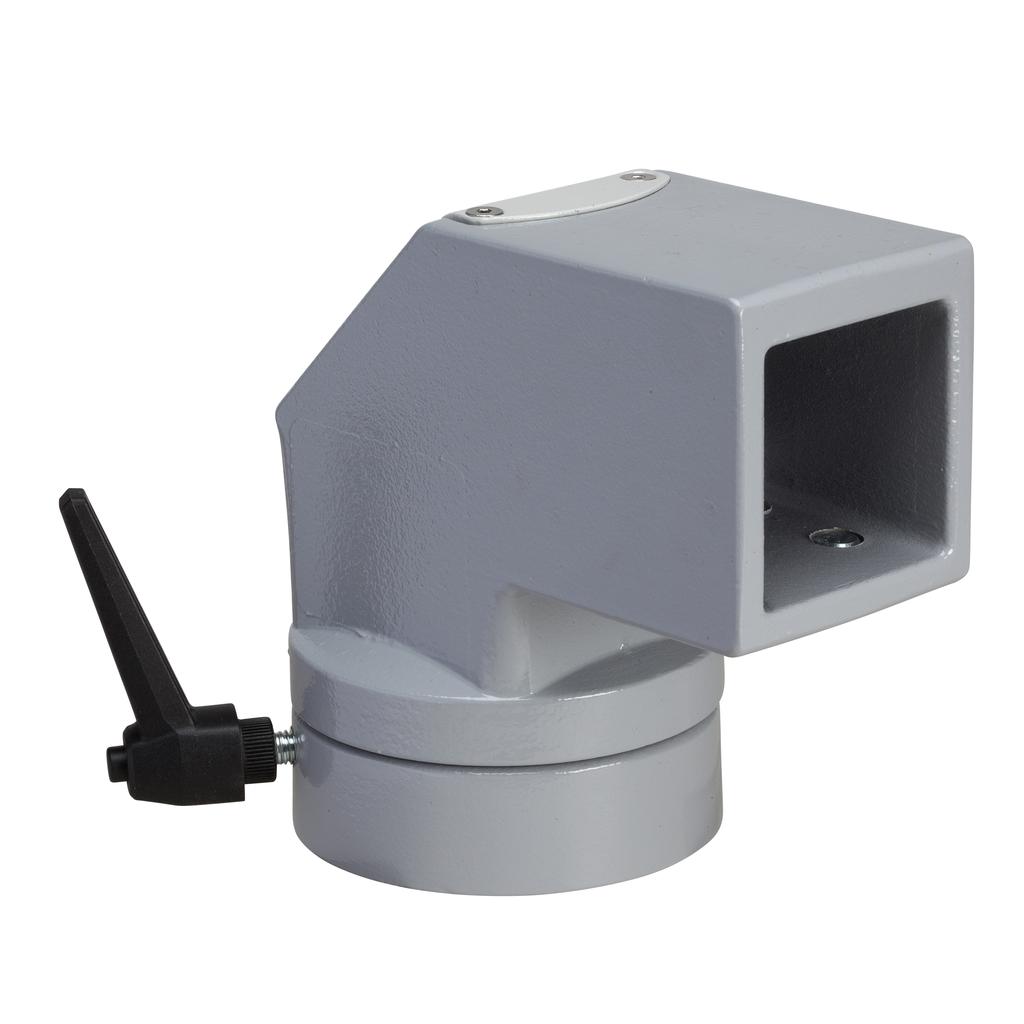 Mayer-Horizontal rotating fixing, square 50 mm RAL 7040. For S3CM HMI encl.-1