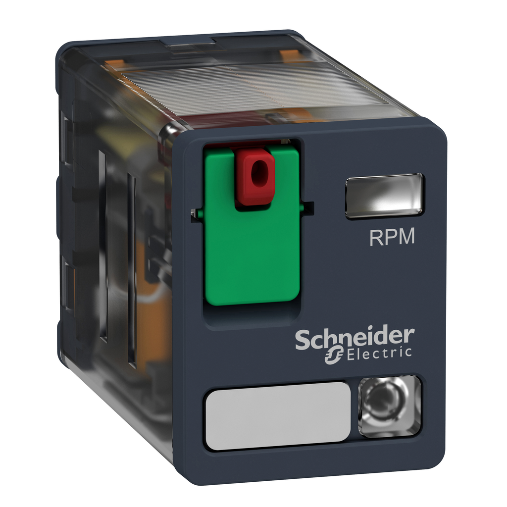 Mayer-Harmony, Power plug-in relay, 15 A, 2 CO, with LED, with lockable test button, 230 V AC-1