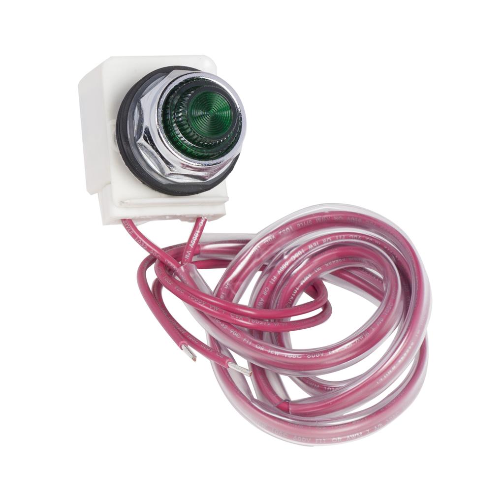 Mayer-NEMA Motor Starter and contactor, Type S, pilot light kit , LED, green, 120 V 60 Hz, NEMA size 00 to 7, Type 1, 3R, 12-1
