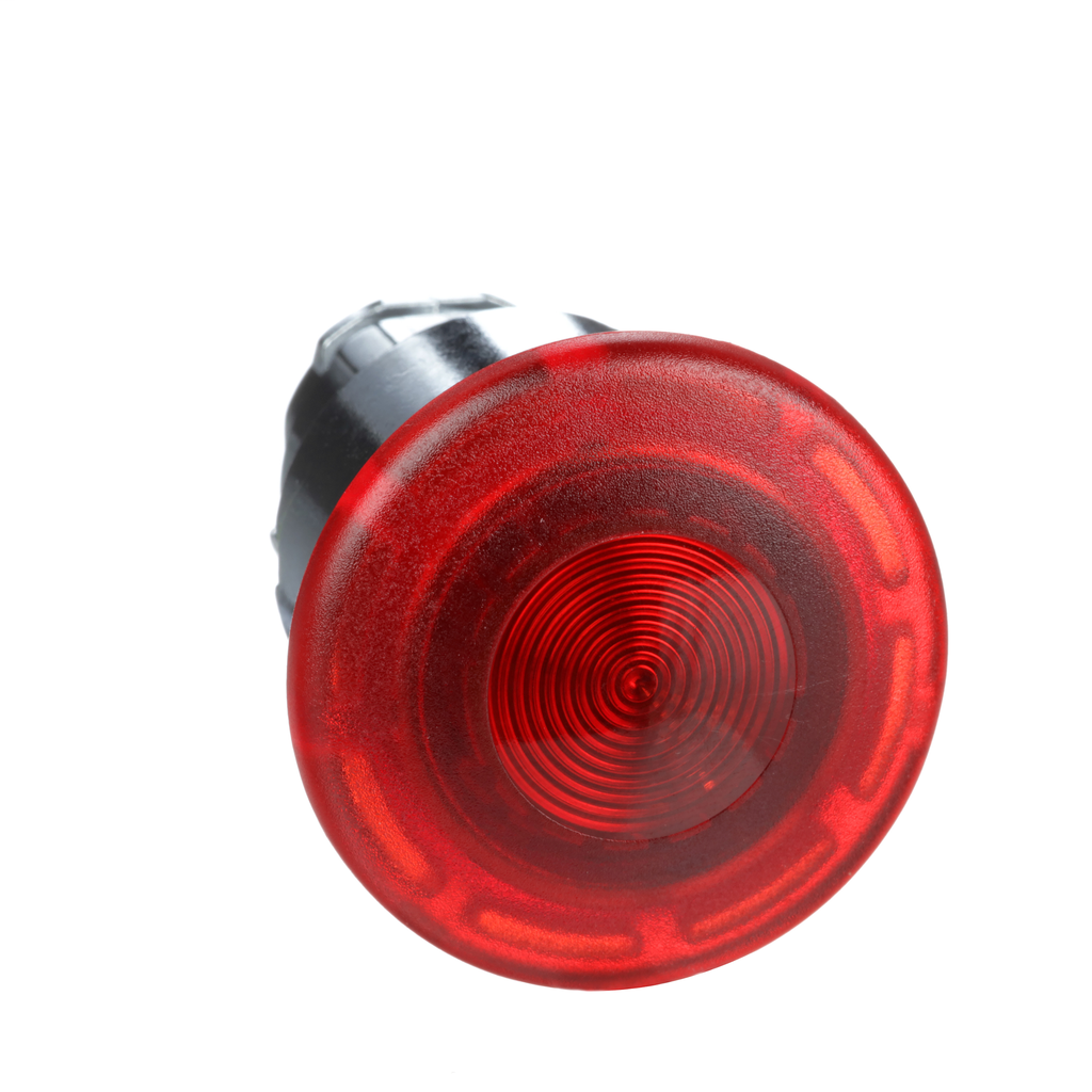 Mayer-Harmony, 22mm Push Button, emergency stop push button head, latching push pull, red, 40 mm mushroom, for integral LED-1