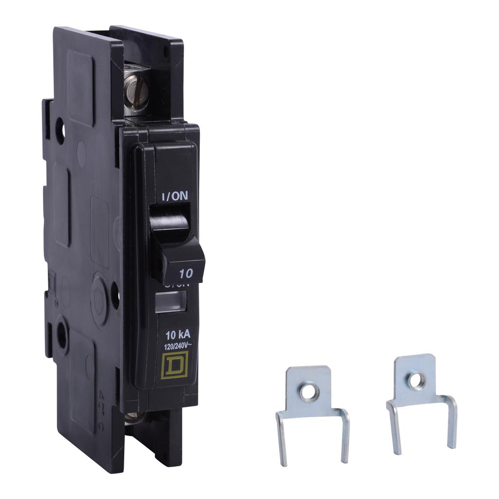 Mayer-Mini circuit breaker, QOU, 10A, 1 pole, 120/240 VAC, 10kA, mounting foot-1