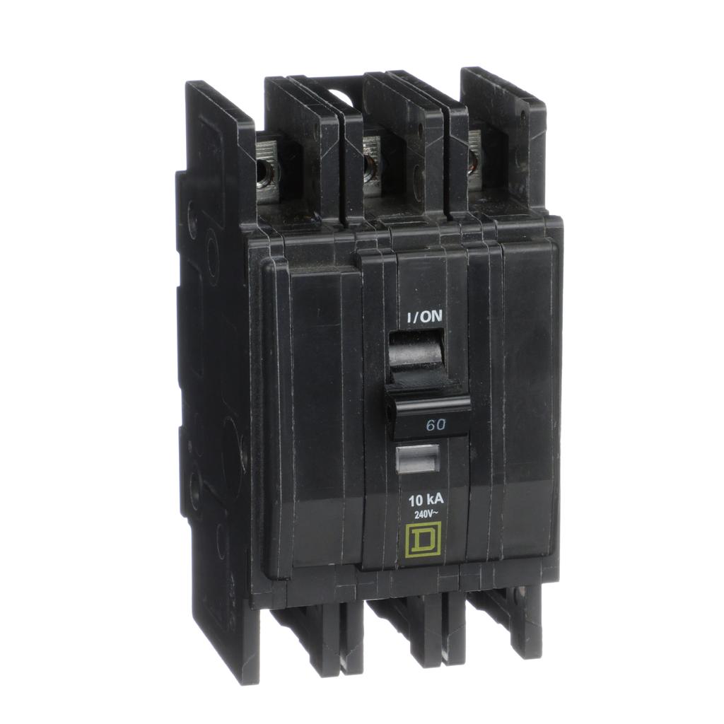 Mayer-Mini circuit breaker, QOU, 60A, 3 pole, 240 VAC, 10kA, ring terminal-1