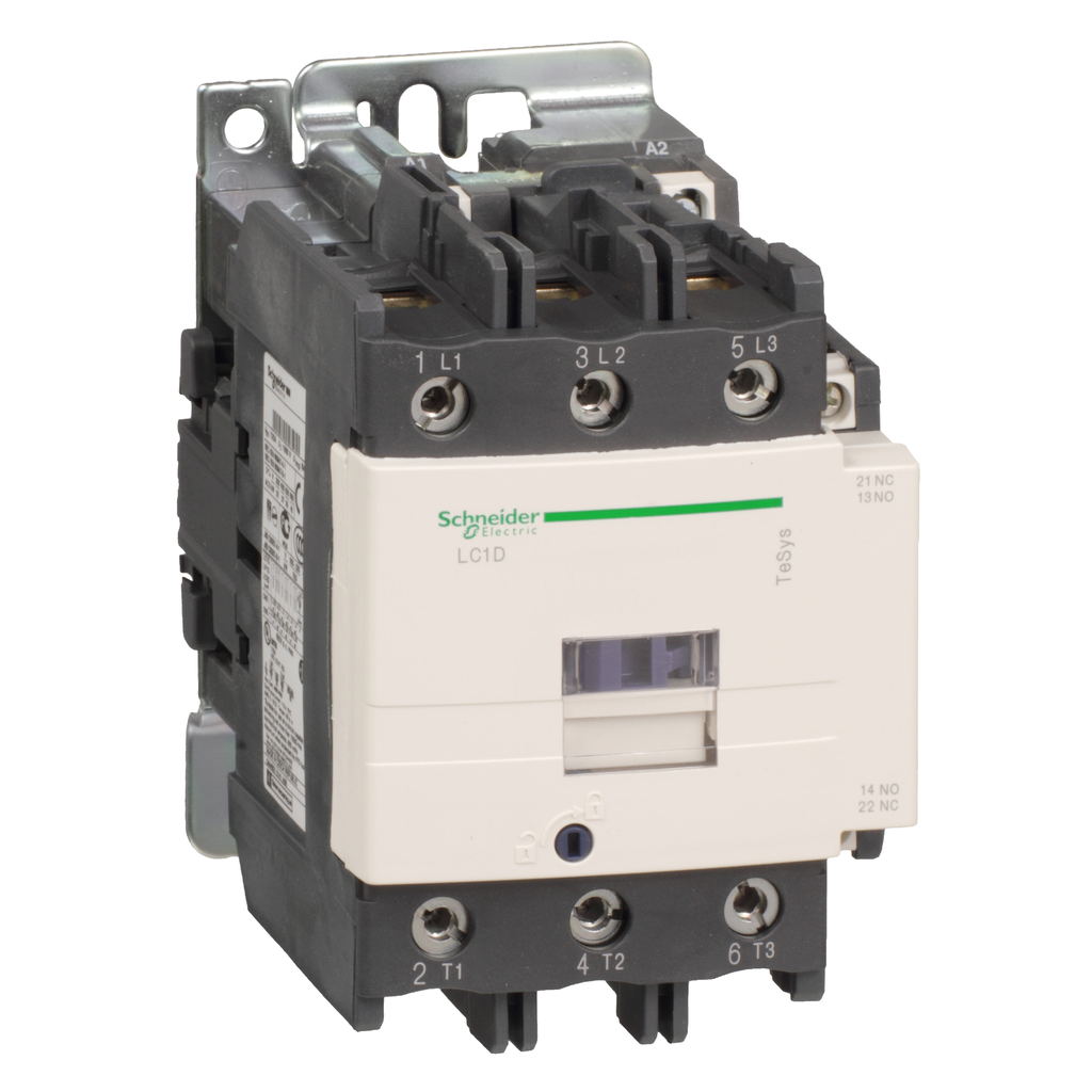 Mayer-IEC contactor, TeSys D, nonreversing, 95A, 60HP at 480VAC, 3 phase, 3 pole, 3 NO, 440VAC 50/60Hz coil, open style-1