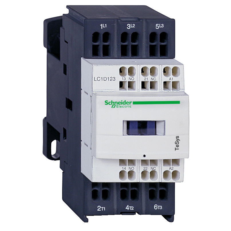 Mayer-IEC contactor, TeSys D, nonreversing, 25A, 15HP at 480VAC, 3 phase, 3 pole, 3 NO, low consumption 24VDC coil, open style-1