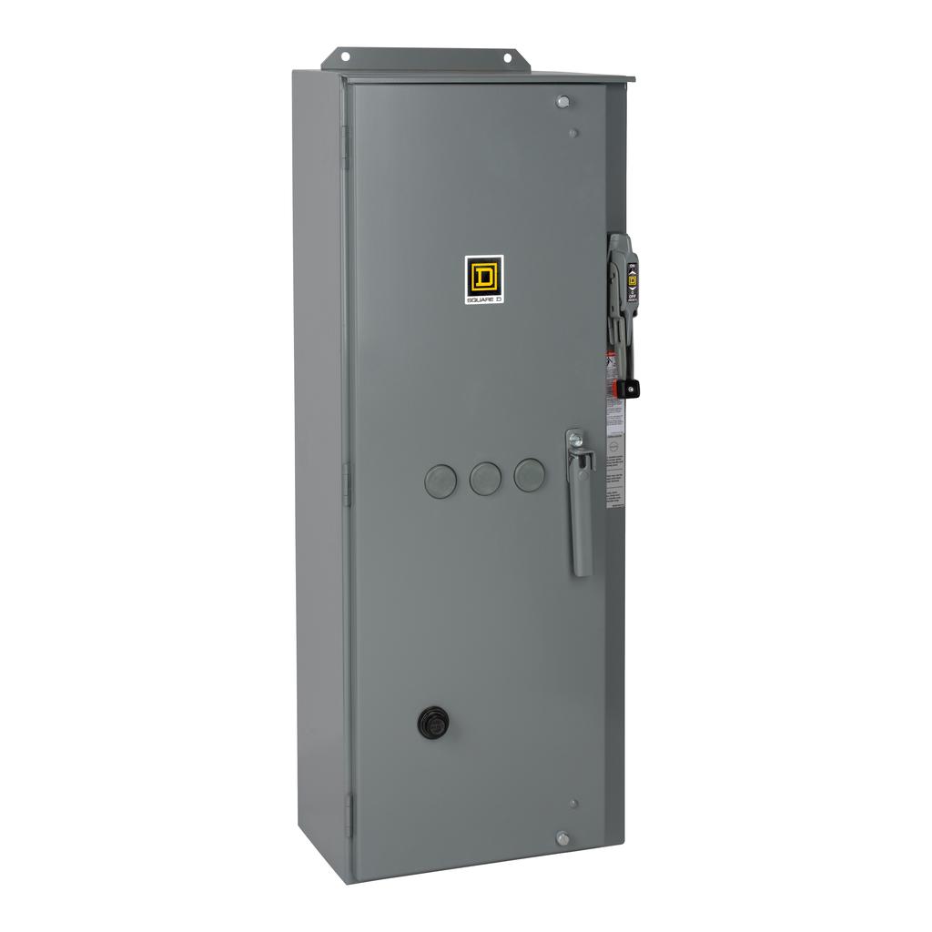 Mayer-NEMA Combination Starter, Type S, HHL electronic motor circuit protector, Size 3, 90A, 3 phase, 120 VAC coil, NEMA 12-1