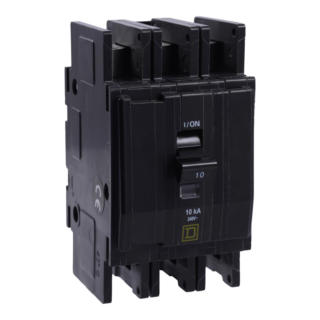 Mayer-Mini circuit breaker, QOU, 30A, 3 pole, 240 VAC, 10kA, field reversible lugs-1
