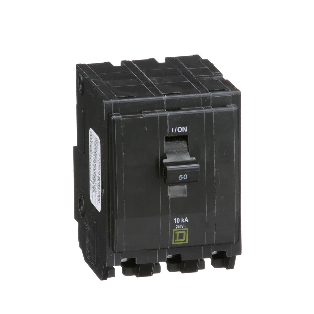 Mayer-Mini circuit breaker, QO, 50A, 3 pole, 120/240 VAC, 10 kA, plug in mount-1
