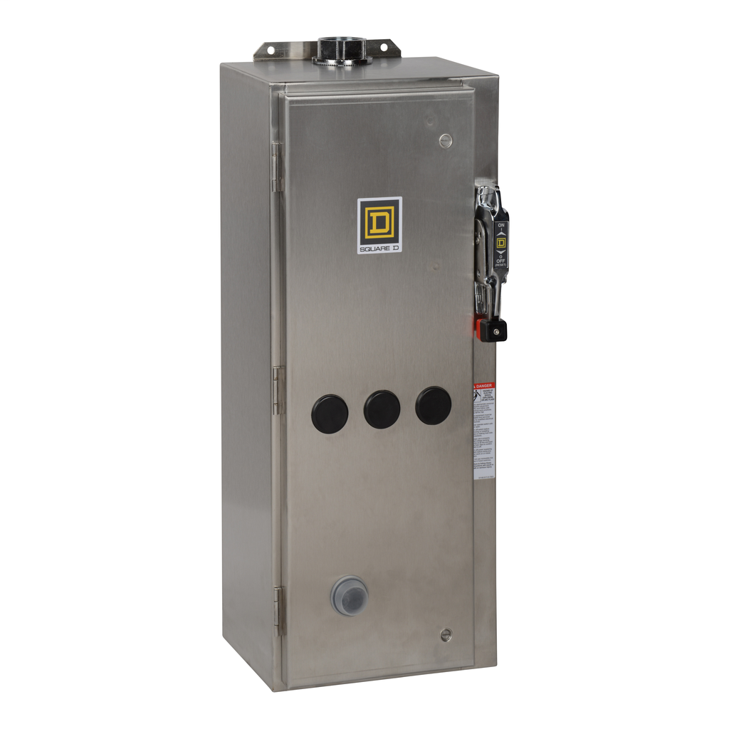 Mayer-NEMA Combination Starter, Type S, HHL electronic motor circuit protector, Size 2, 45A, 3 phase, 120 VAC coil, NEMA 4X-1