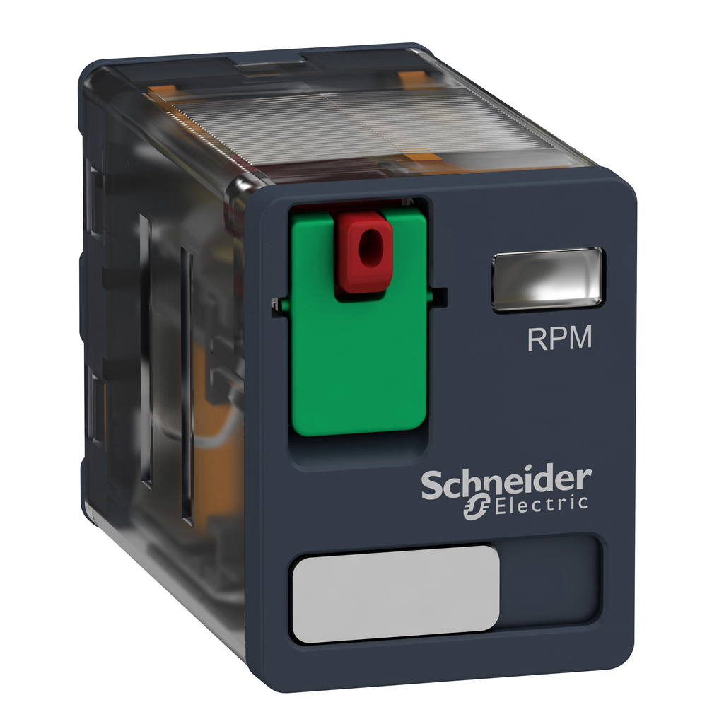 Mayer-Harmony, Power plug-in relay, 15 A, 2 CO, with lockable test button, 120 V AC-1