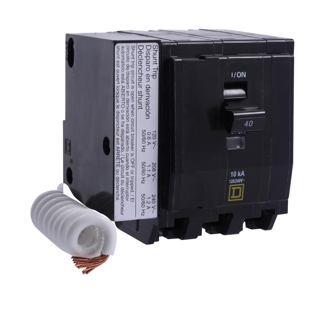 Mayer-Mini circuit breaker, QO, 50A, 3 pole, 120/240 VAC, 10 kA, switch neutral, plug in mount, AC shunt trip-1