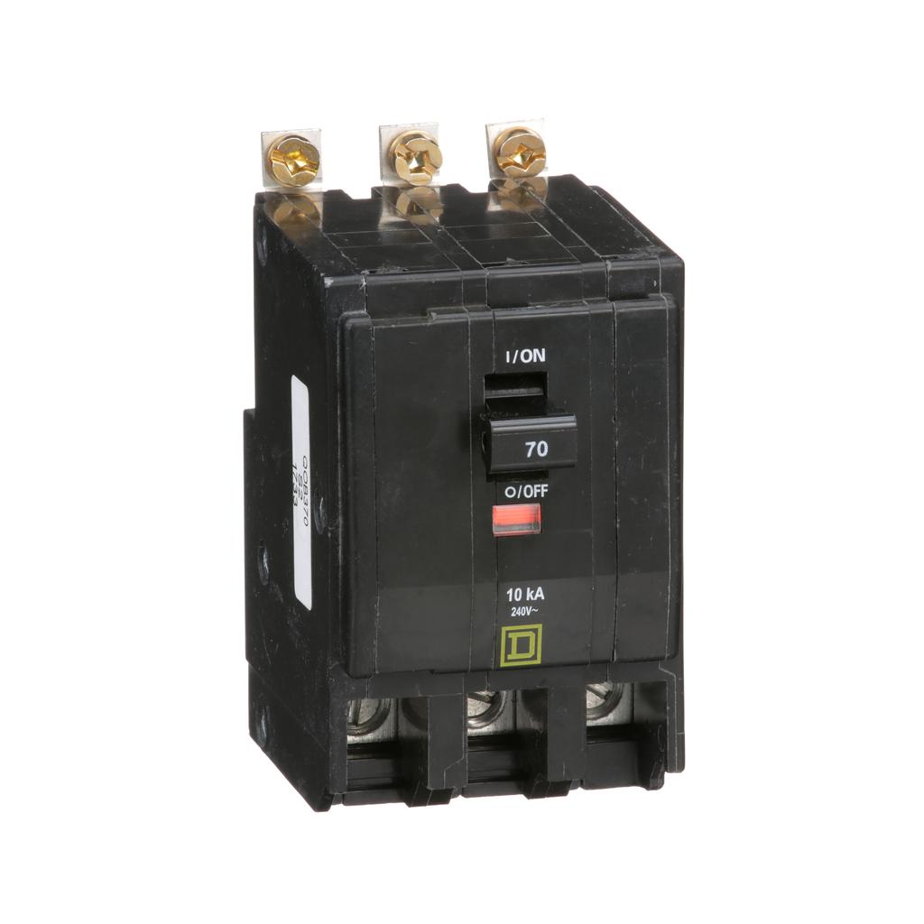 Mayer-Mini circuit breaker, QO, 70A, 3 pole, 120/240 VAC, 10 kA, bolt on mount-1