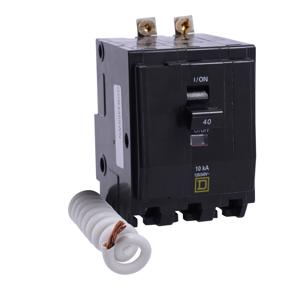 Mayer-Mini circuit breaker, QO, 50A, 3 pole, 120/240 VAC, 10 kA, switch neutral, bolt on mount-1