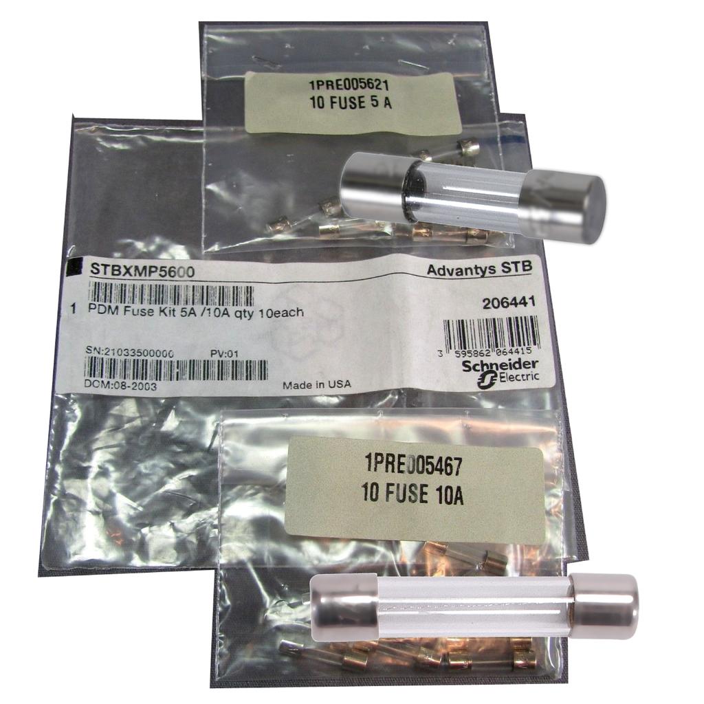 Mayer-Modicon STB - PDM fuse kit - for I/O module - 5 fuses 10 A-1