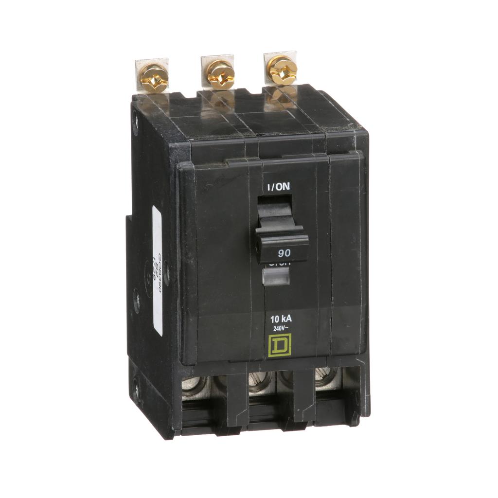 Mayer-Mini circuit breaker, QO, 90A, 3 pole, 120/240 VAC, 10 kA, bolt on mount-1