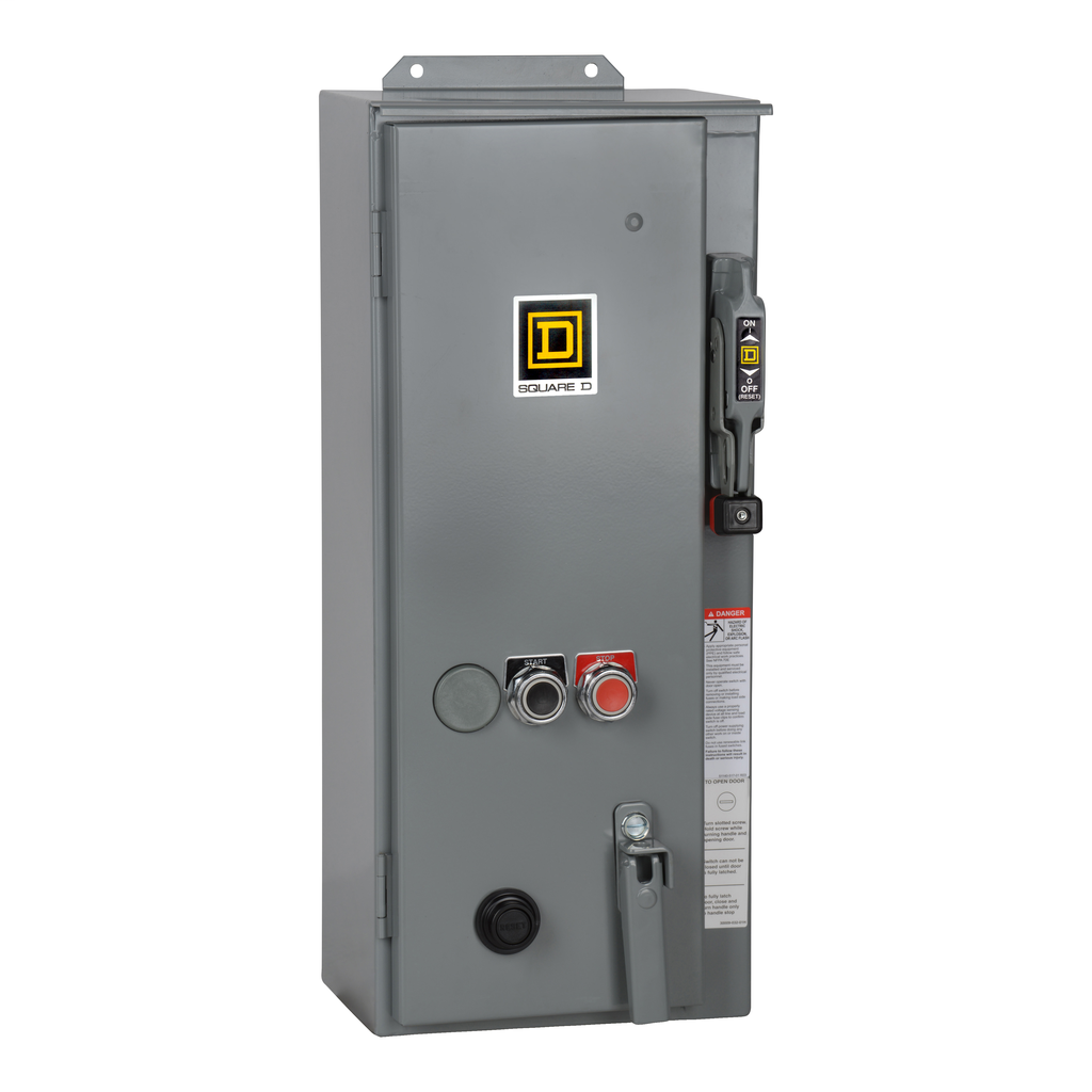 Mayer-NEMA Combination Starter, Type S, 30A fusible disconnect, Size 0, 18A, 5 HP at 600 VAC polyphase, 120 VAC coil, NEMA 12-1