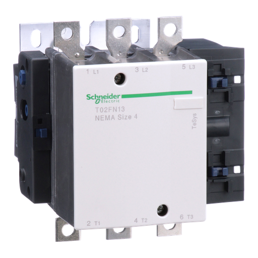 Mayer-NEMA Contactor, TeSys N, nonreversing, Size 4, 135A, 100HP at 460VAC, 3 pole, 3 phase, 120VAC 50/60Hz coil, open-1
