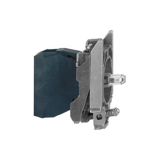 Mayer-Harmony XB4, Light block with body/fixing collar, metal, white, integral LED, 24…120 V AC/DC-1