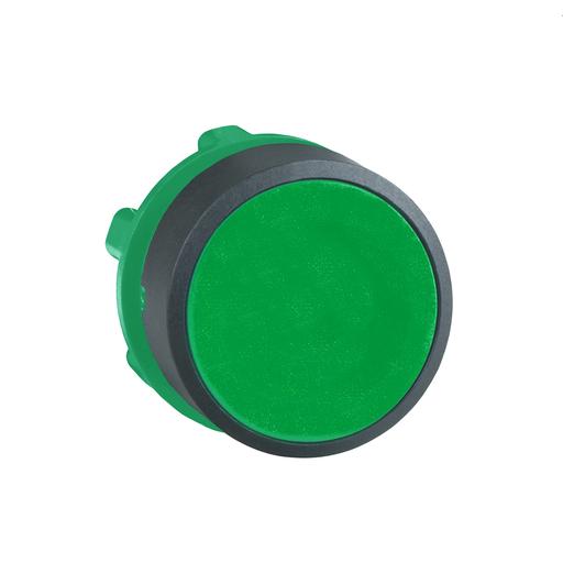 Mayer-Harmony XB5, Push button head, plastic, flush, green, Ø22, spring return, unmarked-1