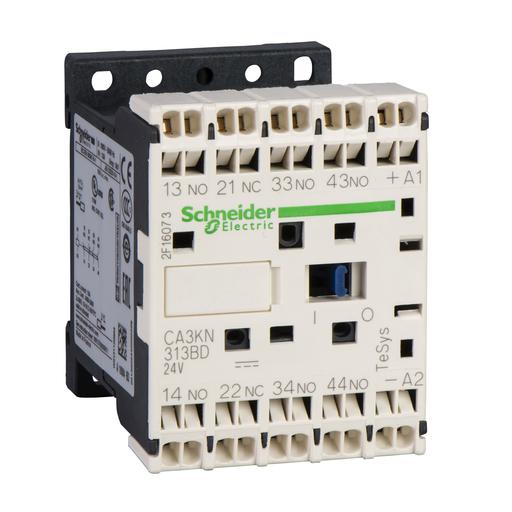 Mayer-TeSys K control relay - 4 NO - <= 690 V - 24 V DC low consumption coil-1