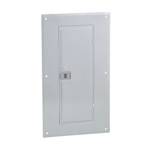 Mayer-Load center cover, QO, 32 circuits, flush, gray-1