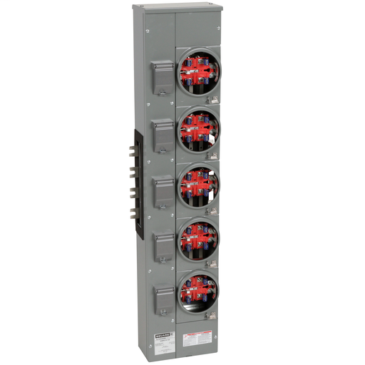 Mayer-Branch unit, EZ Meter-Pak, 125A, 5 sockets, 208Y/120VAC, no bypass, ringless, 800A Al busbar-1