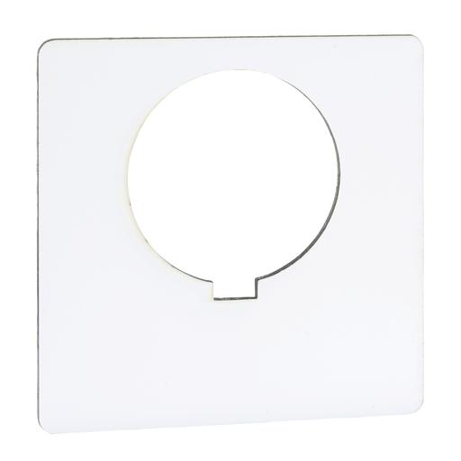 Mayer-30MM LEGEND PLATE - BLANK (WHITE)-1