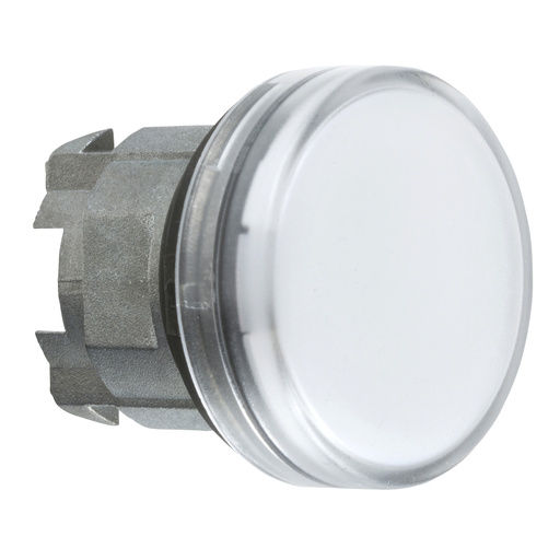 Mayer-Harmony XB4, Pilot light head, metal, white, Ø22, plain lens for BA9s bulb-1