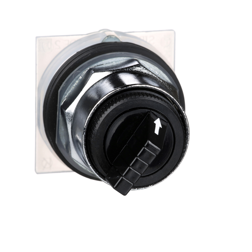30mm Push Button, Type K, selector switch, 2 position, black knob