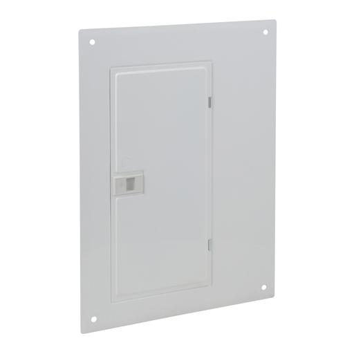 Mayer-Cover, QO, load center, 20 circuits, flush, wide gutter, white-1