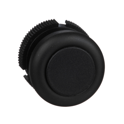 Mayer-Harmony, round head for push button, spring return, black, booted-1