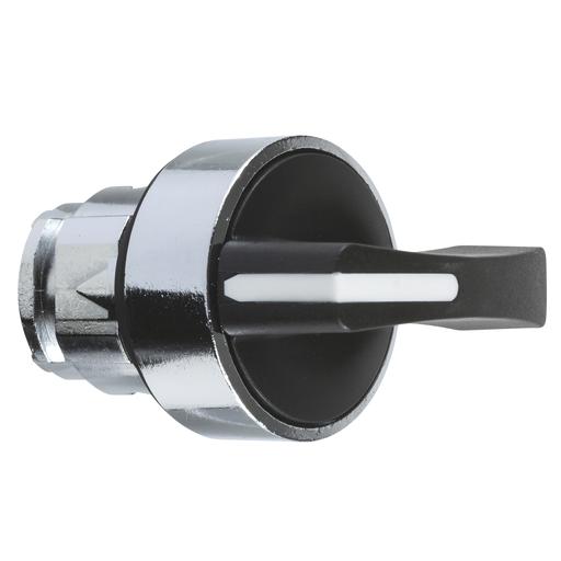 Mayer-Harmony XB4, Selector switch head, metal, black, Ø22, long handle, 3 positions, stay put-1