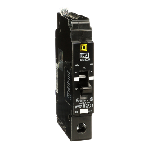 Mayer-Mini circuit breaker, E-Frame, 30A, 1 pole, 277 VAC, 65 kA max, bolt on-1