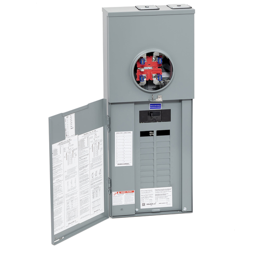 Mayer-All in one, Homeline, combination service entrance, ringless socket, 125A, surface mount, 20 spaces, 40 circuits, 22kA SCCR, horn bypass-1