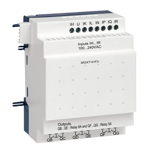 Mayer-Discrete I/O extension module, Zelio Logic, 14 I/O, 100...240 V AC-1