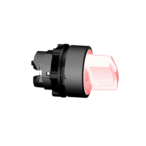 Mayer-Harmony XB5, Illuminated selector switch head, plastic, red, Ø22, integral LED, 2 positions, stay put-1