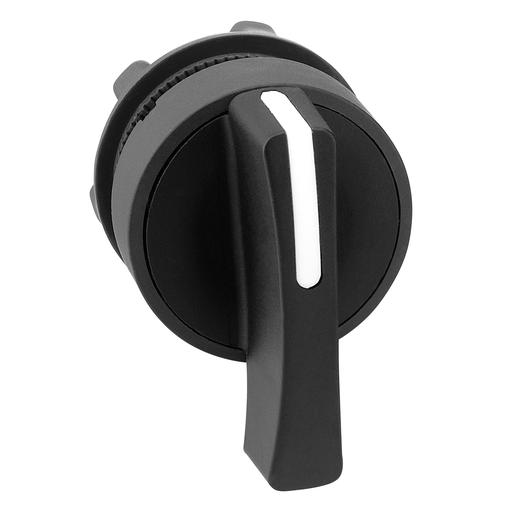 Mayer-Harmony XB5, Selector switch head, plastic, black, Ø22, long handle, 3 positions, stay put-1