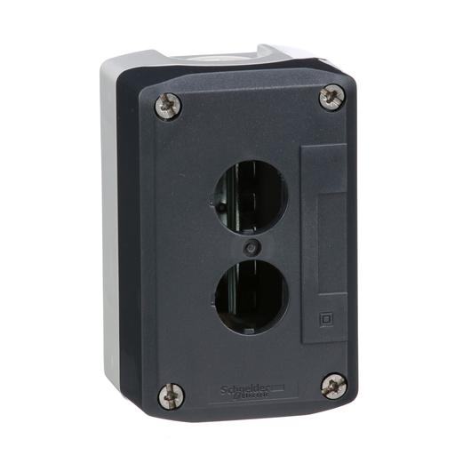 Mayer-Harmony, enclosure, dark grey lid with light grey base, 2 openings, UL/CSA certified-1