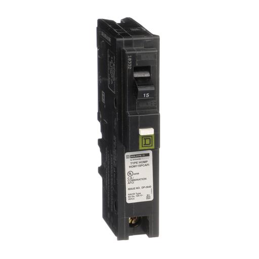 Mayer-Mini circuit breaker, Homeline, 15A, 1 pole, 120 VAC, 10 kA AIR, combo arc fault, plug on neutral, plug in mount-1