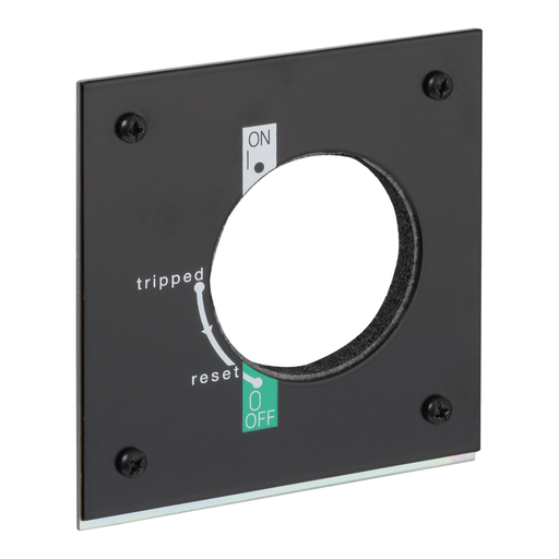 Adaptor plate for direct rotary handle, TeSys GV5 / GV7, mounting on door, IP43