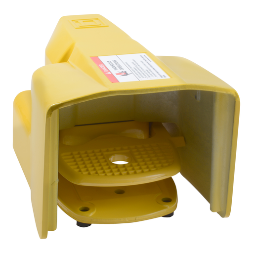 Mayer-Foot Switch, Harmony, industrial, oversized pedal and side shields, 0.6A at 600 VAC, DPDT contact, NEMA 2, 4, 13-1