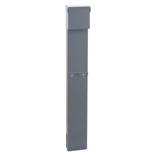 Mayer-MP Meter Pak, meter center, single phase 2W panel, two QO120GFI, pedestal mounted enclosure-1
