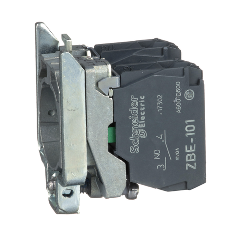 Mayer-Harmony, 22mm Push Button, XB4B operators, contact block, with mounting collar, 2 NO, screw clamp terminal-1