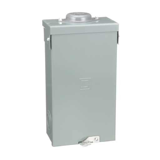 Mayer-Load center enclosure, QO, 1 phase, 2 spaces, used with 100A breaker, NEMA3R, UL-1
