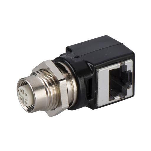 adaptor M12 female/RJ45 - for Ethernet connection