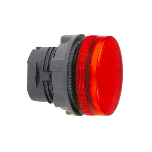 Mayer-Head for pilot light, Harmony XB5, red Ø22 mm grooved lens integral led-1